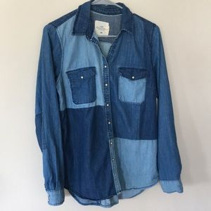 Patch Work Denim Shirt